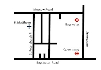 Map of St Matthews Bayswater